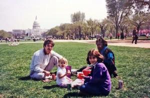 My family having a picnic