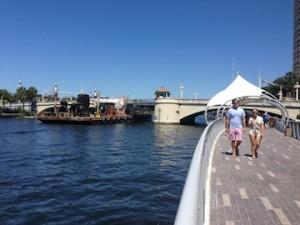 Tampa's new  Riverwalk park