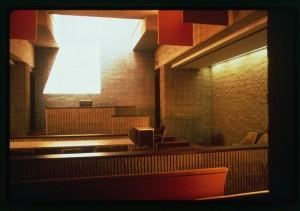 Orange County Government Center, Goshen, New York. Interior. Courtroom