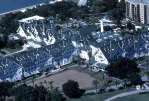 Aerial view looking northwest over the Belleview-Biltmore Hotel in Belleair, Florida. 1983. Color slide, . State Archives of Florida, Florida Memory. , accessed 11 January 2016.