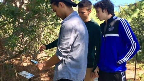 Students explore poetry on campus Nature Trail