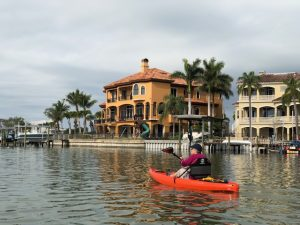 Large mansions on the water